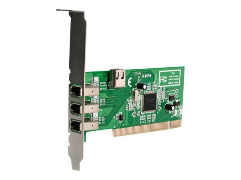 StarTech.com 4 port PCI 1394a FireWire Adapter Card - 3 External 1 Internal