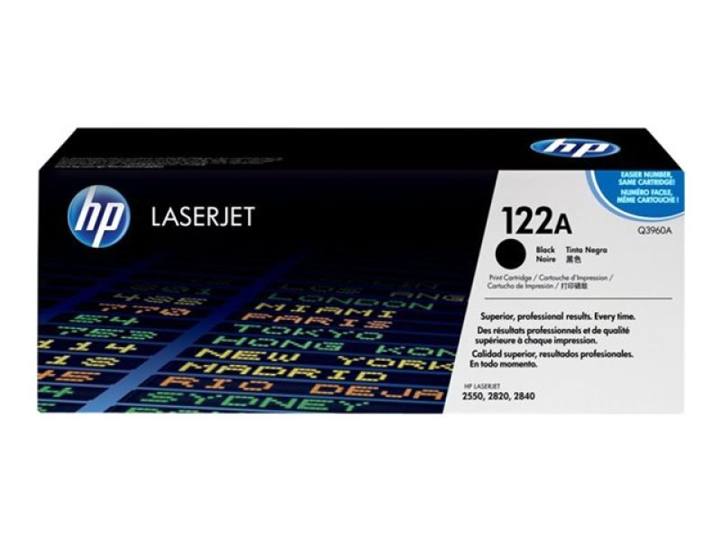 *HP 122A Black Toner Cartridge - Q3960A