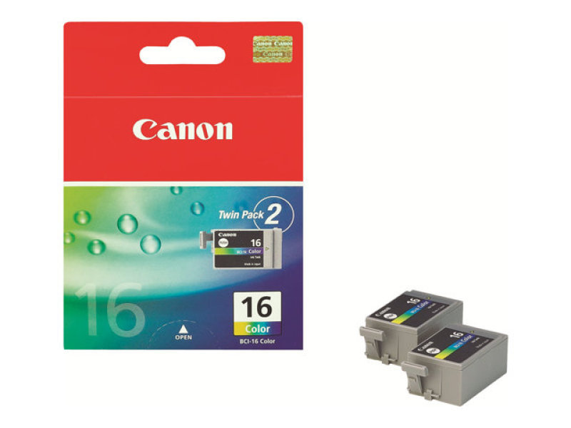 *Canon BCI 16 Colour Ink Cartridge - Twin Pack