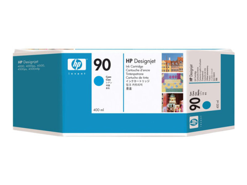 HP 90 400ml Cyan Ink Cartridge - Pack of 3