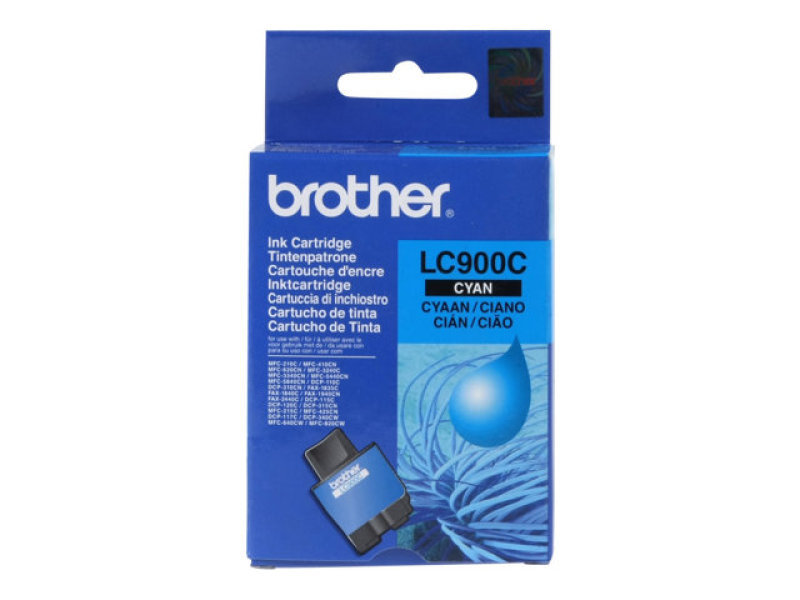 Brother LC900C Cyan Ink Cartridge 400 Pages