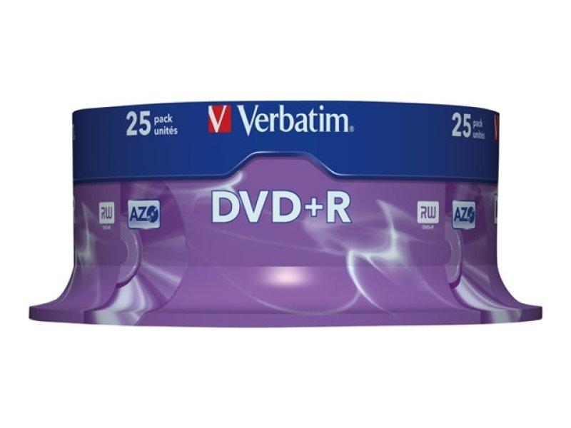 Verbatim 16x DVD+R Discs - 25 Pack Spindle