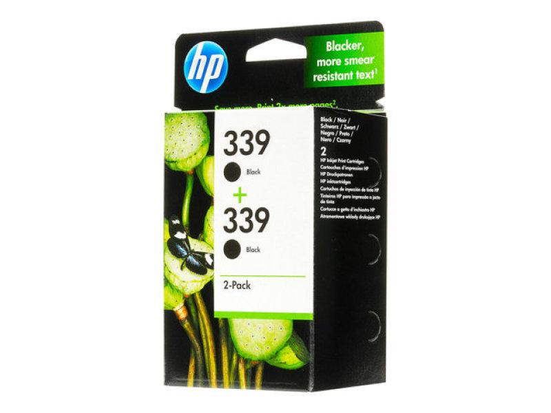 HP 339 Black Dual Pack Ink Cartridge - C9504EE