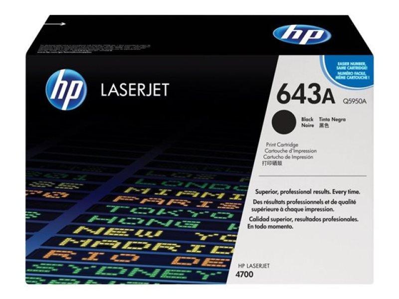 HP 643A Black Toner Cartridge - Q5950A