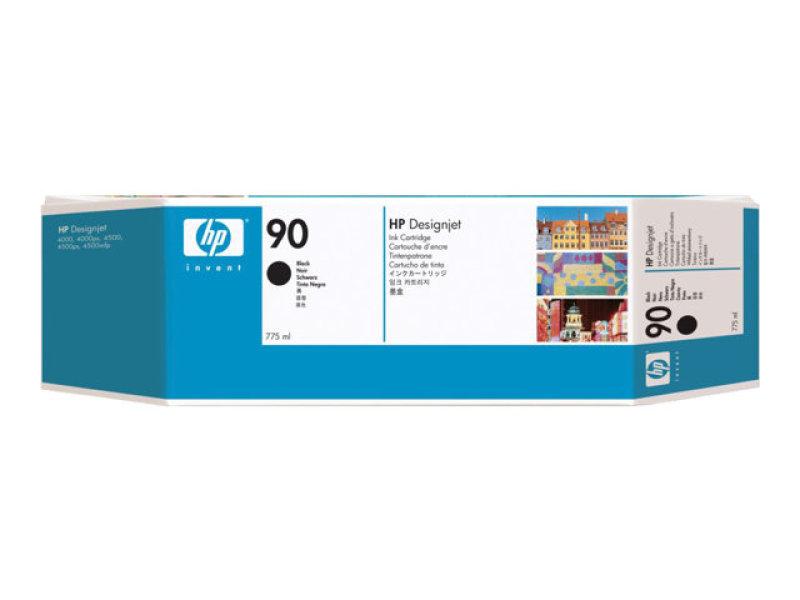 HP 90 775ml Black Ink Cartridge - 3 Pack