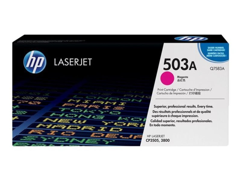 HP 503A Magenta Toner Cartridge 6000 Pages - Q7583A