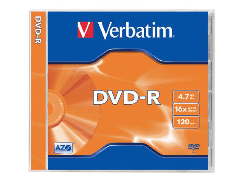 Verbatim 16X 4.7GB AdvAzo DVD-R - 5 Pack Jewel Case