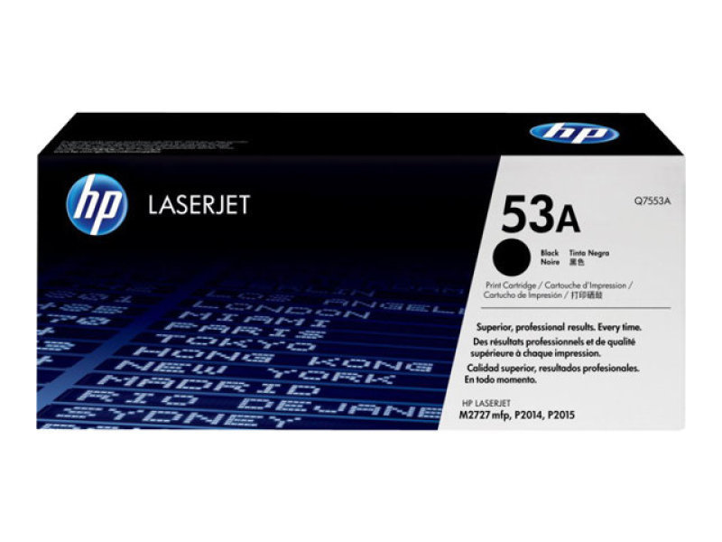 HP 53A Black Toner Cartridge - Q7553A