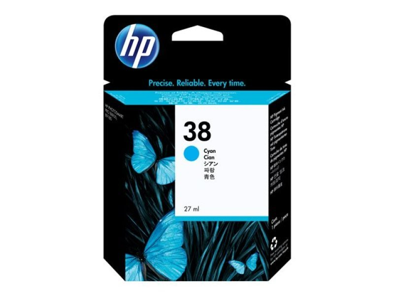HP 38 27ml Pigmented Cyan Ink Cartridge - C9415A
