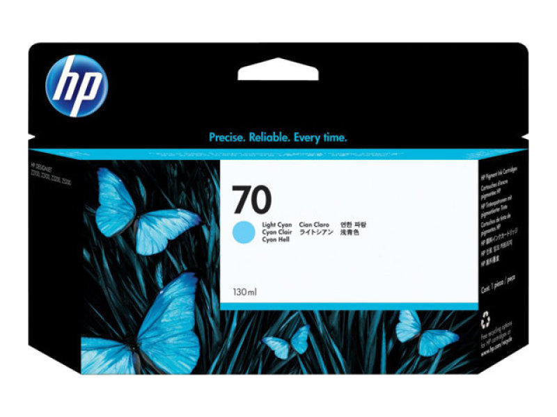 HP 70 130ml Light Cyan Ink Cartridge - C9390A