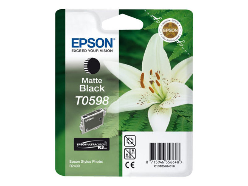 Epson T0598 13ml Pigmented Matte Black Ink Cartridge