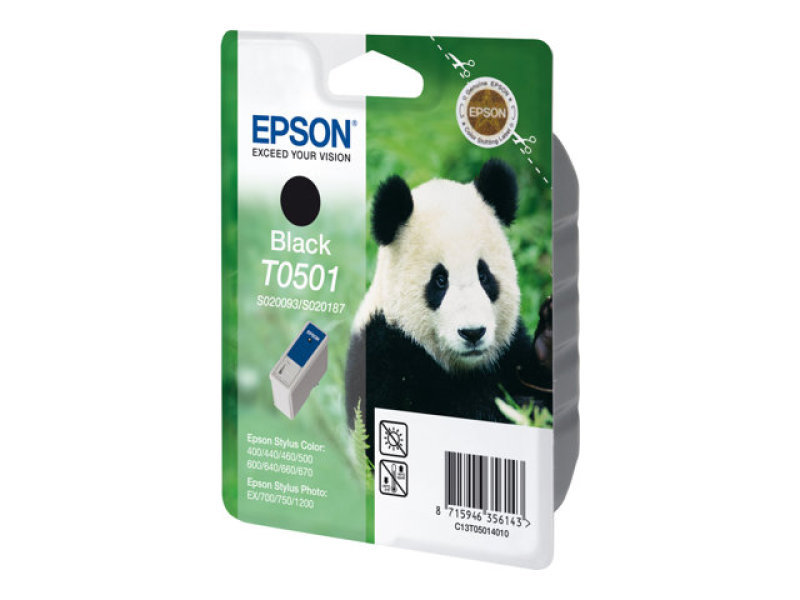 Epson Ink Cartridge Black - F/ Stylus Clr 4x0/5x0/6x0/7x0 Ns