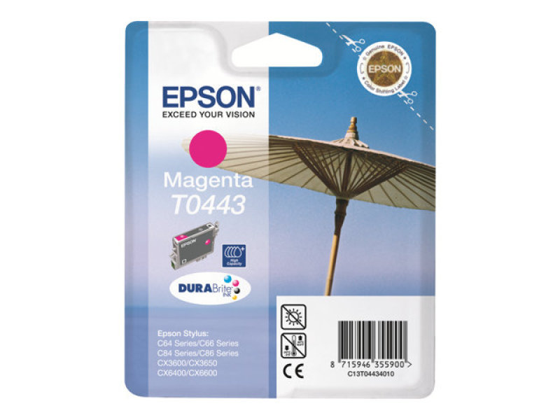 Epson T0443 13ml High Capacity Pigmented Magenta Ink Cartridge 420 Pages