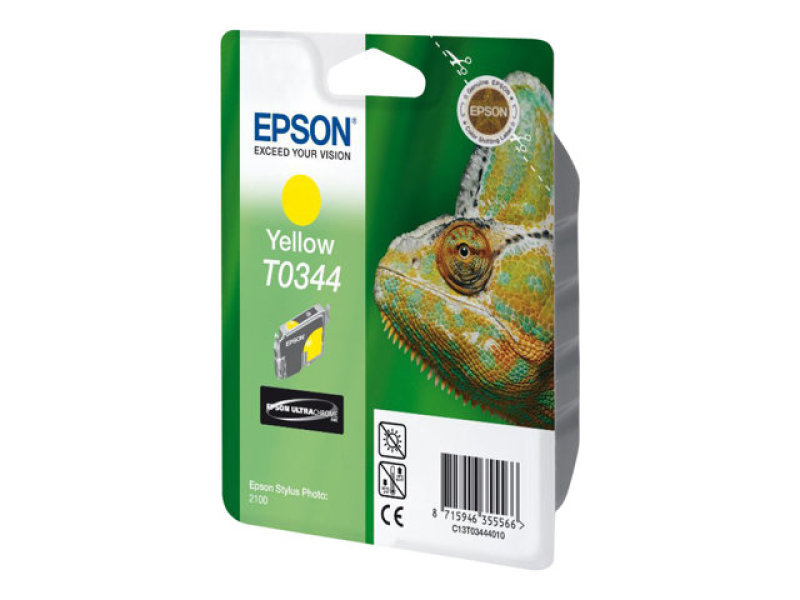 Epson T0344 17ml Pigmented Yellow Ink Cartridge 440 Pages