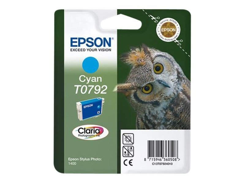 Epson T0792 14ml Cyan Ink Cartridge