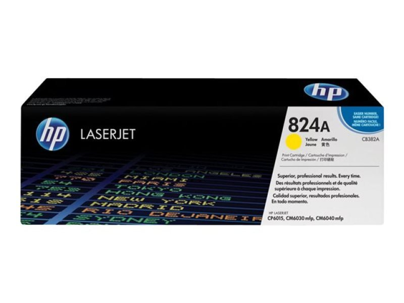 HP 824A Yellow Toner Cartridge - CB382A