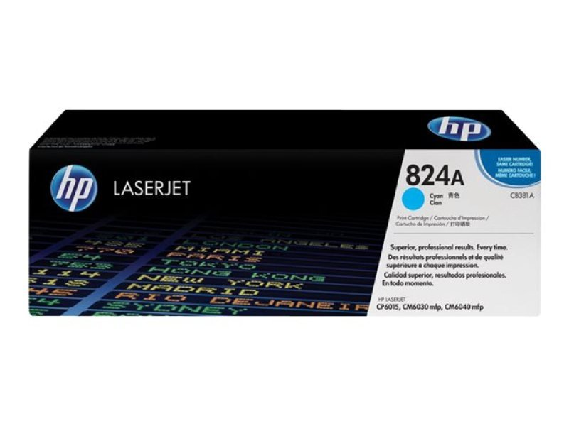 HP 824A Cyan Toner Cartridge 21,000 Pages - CB381A