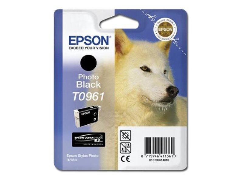 *Epson T0961 11.4ml Photo Black Ink Cartridge