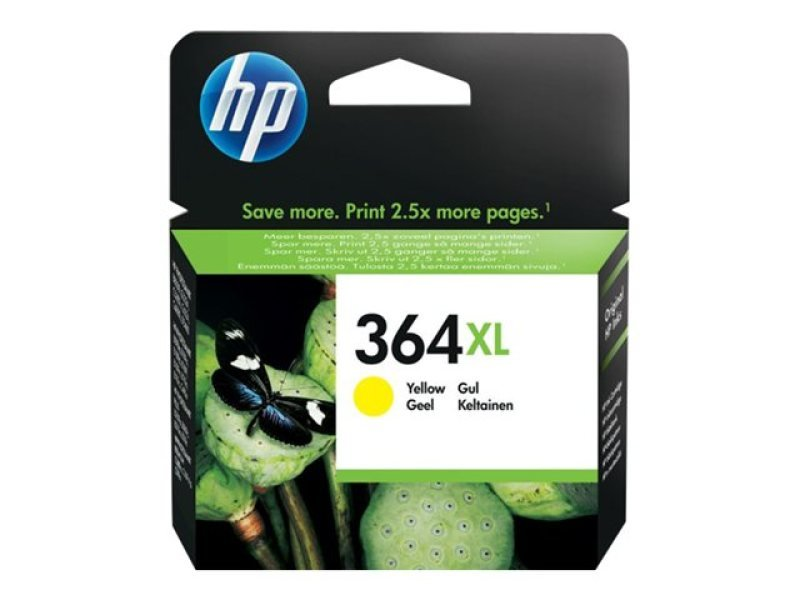 HP 364XL High Yield Yellow Original Ink Cartridge - CB325EE