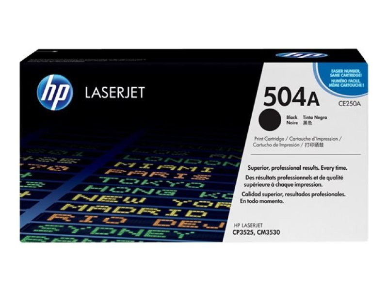 HP 504A Black Toner Cartridge - CE250A