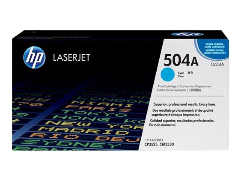 HP 504A Cyan Toner Cartridge - CE251A