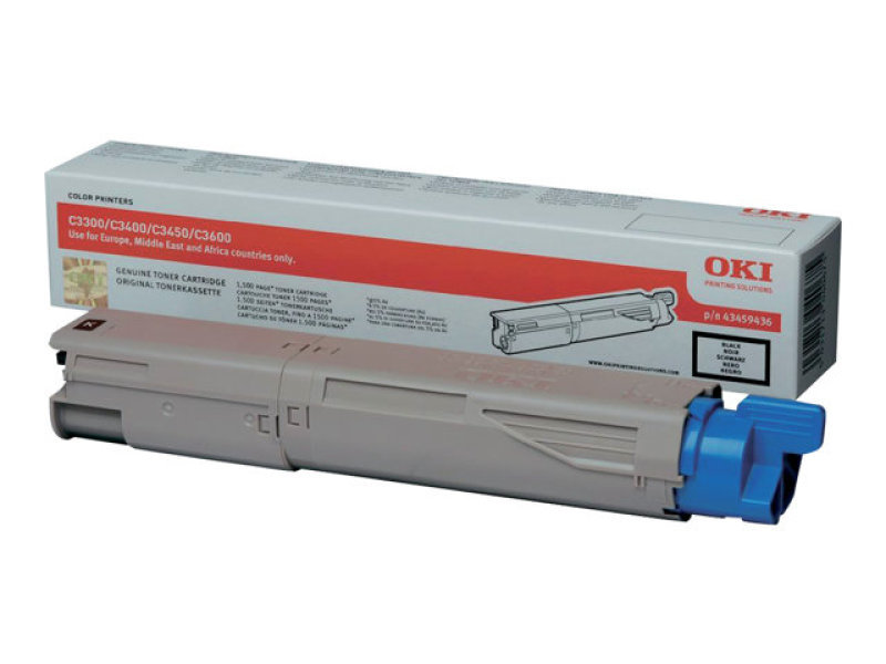 OKI - Toner cartridge - 1 x black - 1500 pages for C3300/C3400/C3450