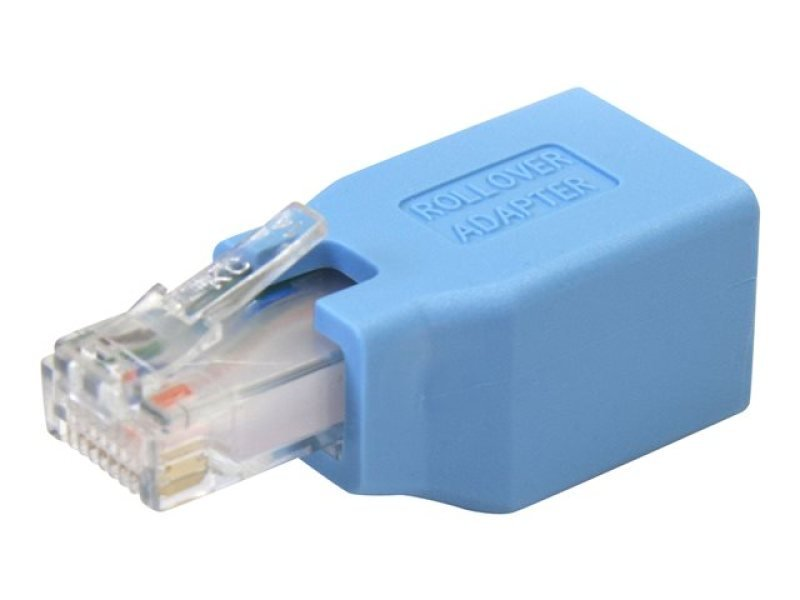 StarTech.com Cisco Console Rollover Adapter for RJ45 Ethernet Cable M/F (Blue)