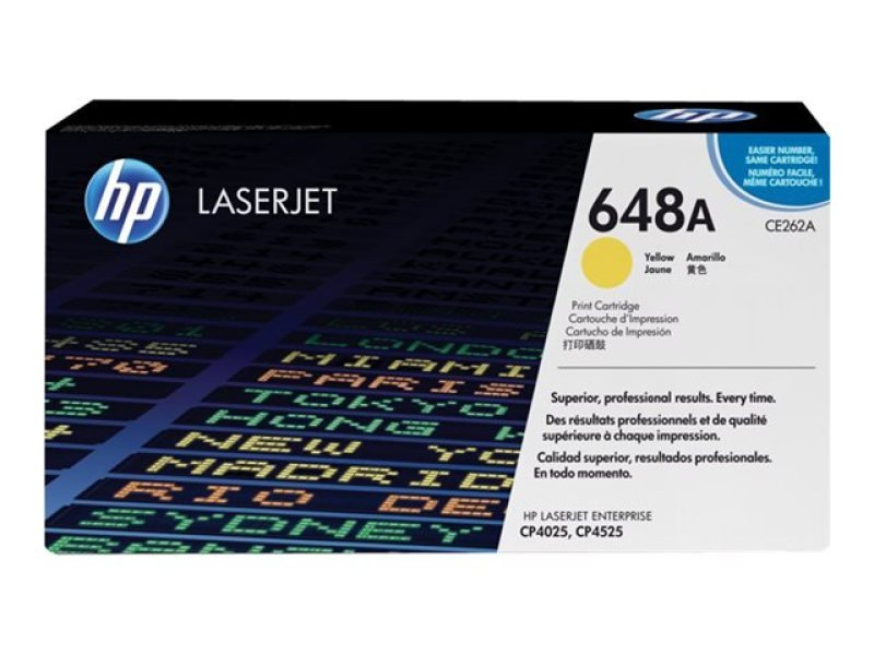 HP 648A Yellow  Toner Cartridge - CE262A