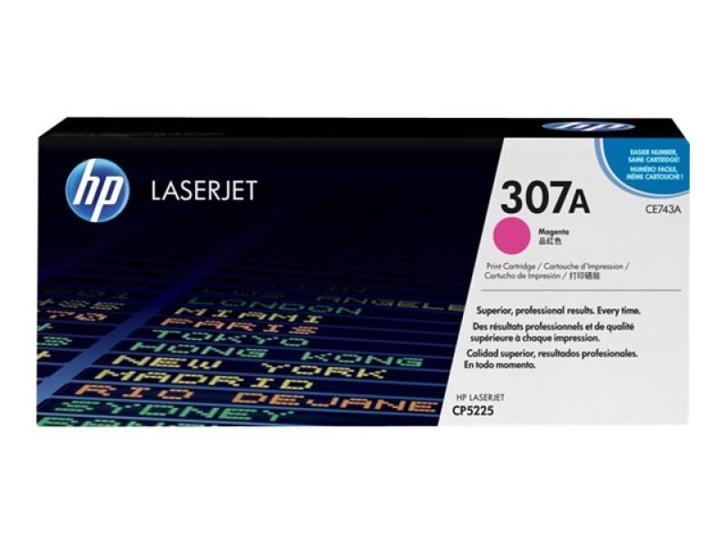 HP 307A Magenta Toner Cartridge 7300 Pages - CE743A