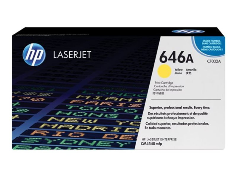 HP 646A Yellow Laserjet Toner Cartridge 12,500 Pages - CF032A