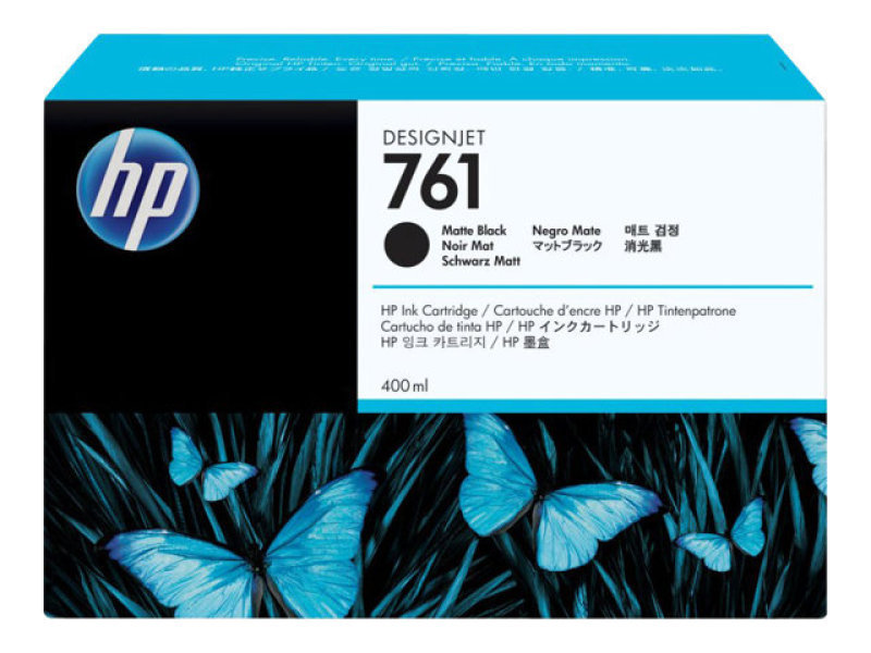 HP No 761 Matte Black Ink Cartridge - CM991A
