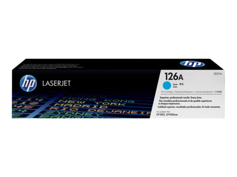 HP 126A Cyan Toner Cartridge - CE311A