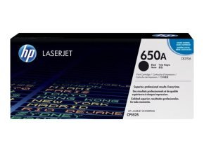 HP 650A Black Toner Cartridge - CE270A