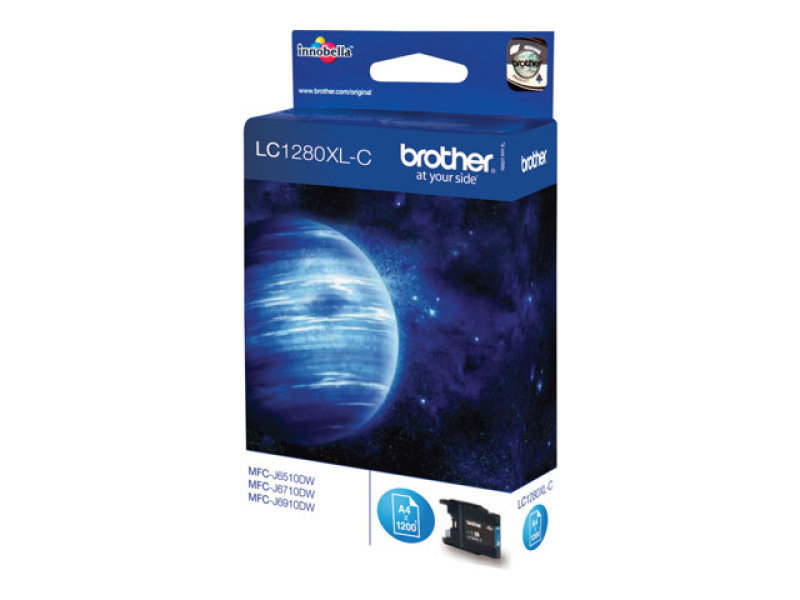 Brother LC1280XLC Super High Yield Cyan Toner