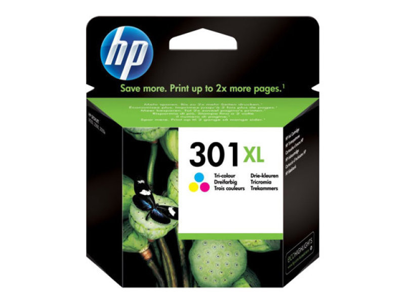 HP 301XL Tri Colour Inkjet Cartridge - CH564EE