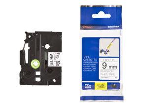 Brother TZE-FXE221 tape - 9 MM Black/White