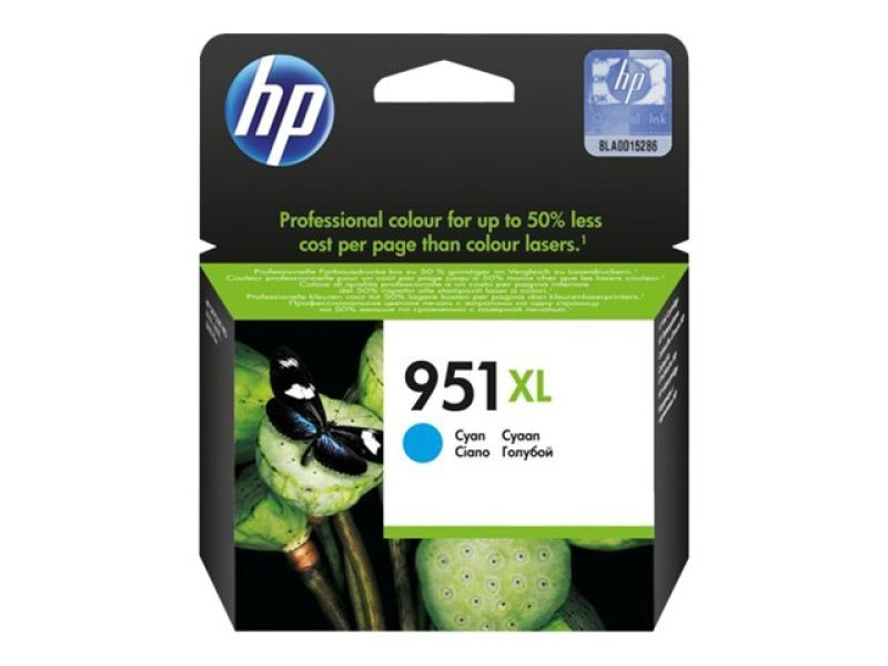 HP 951XL Cyan Ink Cartridge - CN046AE