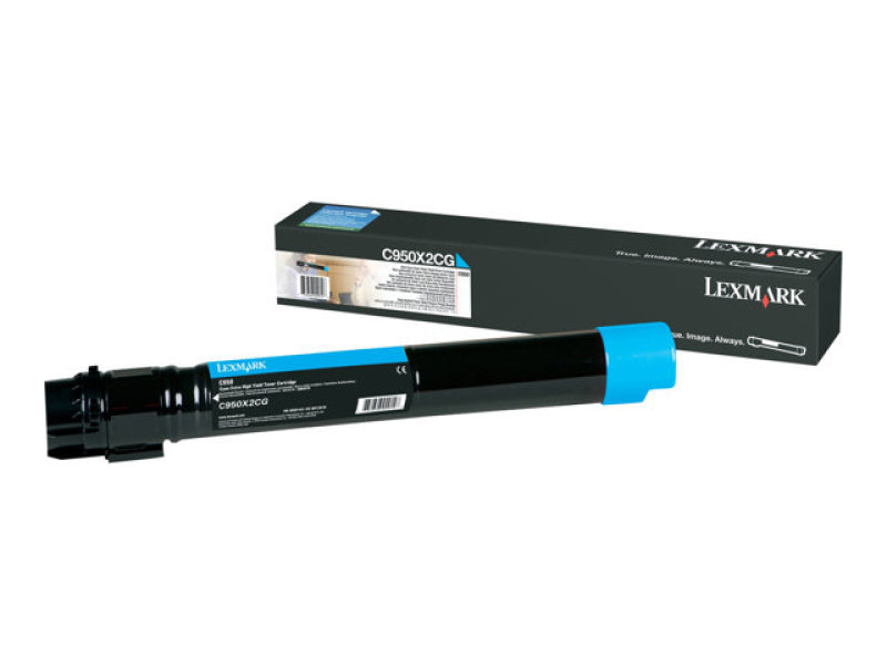 Lexmark C950X2CG Extra High Yield Cyan Toner Cartridge