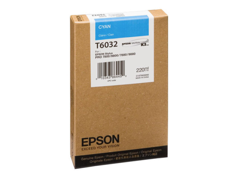 Epson T6032 - Print cartridge - 1 x cyan