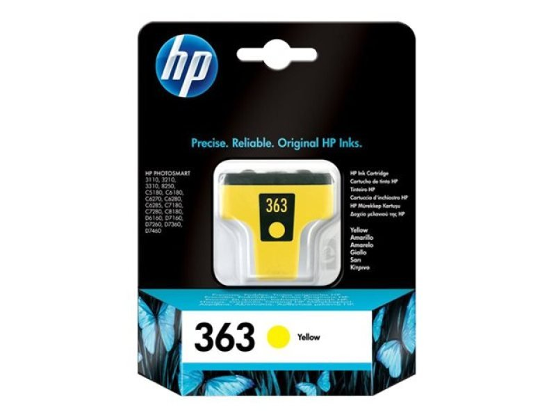 *HP 363 Yellow Ink Cartridge - C8773EE