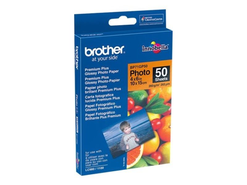 Brother BP71GP50 Glossy 10cm x 15cm Photo Paper (50 Sheets)