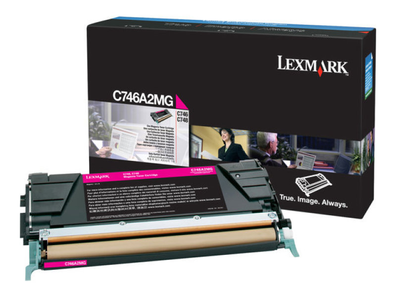 Lexmark C746A1MG Magenta Toner Cartridge