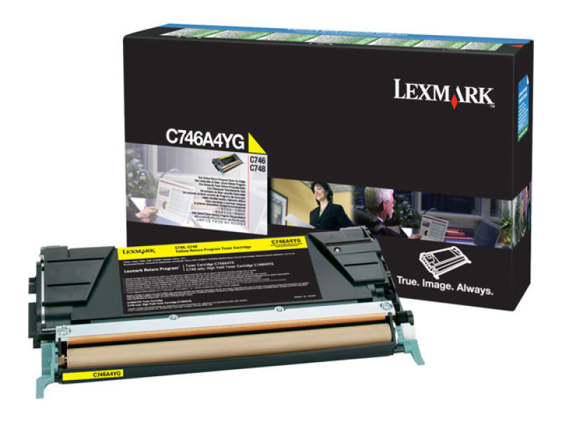 Lexmark C746A1YG Yellow Toner Cartridge