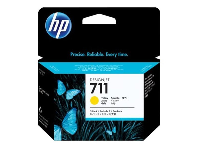 *HP 711 3pack Yellow Ink Cartridges - CZ136A