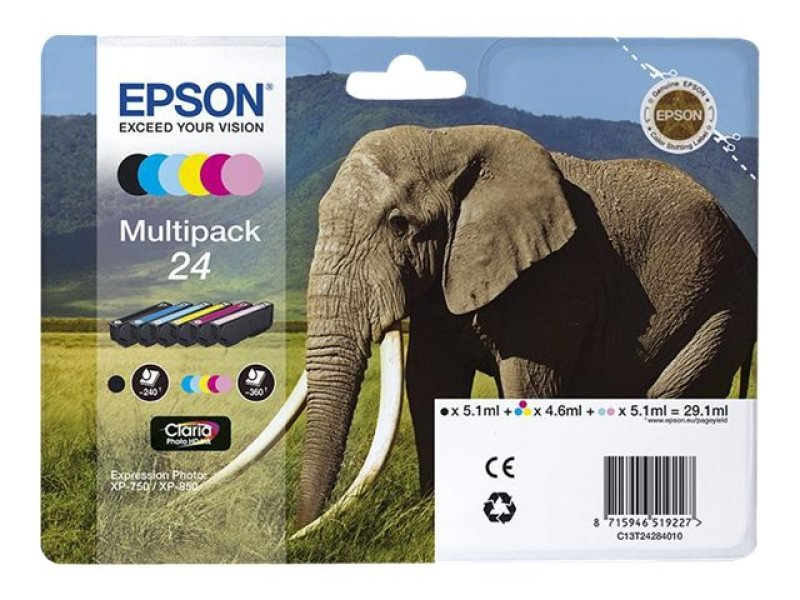 Epson 24 Multipack Ink Cartridge- Blister Pack