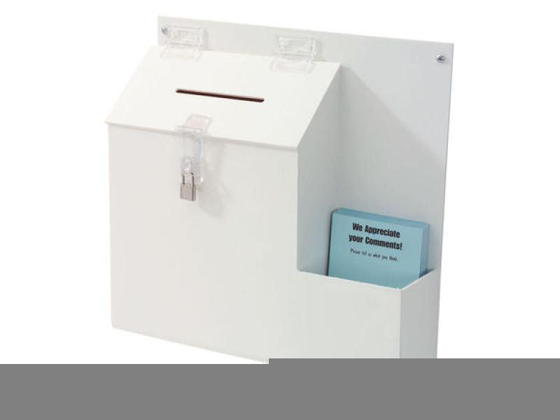 DEFLECT SUGGESTION BOX WHITE