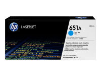 HP 651A Cyan Original Laserjet Toner Cartridge - CE341A