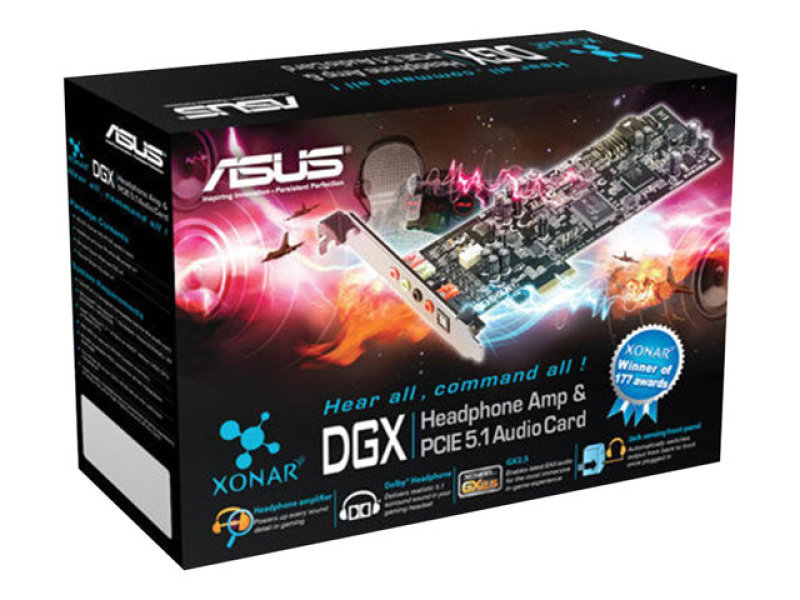 Asus Xonar DGX 5.1 Sound Card Hi-Fi spirits in your games, movies and music - 90-YAA0Q1-0UAN0BZ