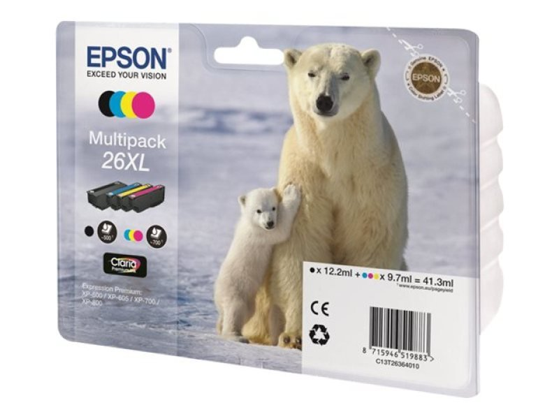 Epson Multipack 26xl Claria Ink Cartridge