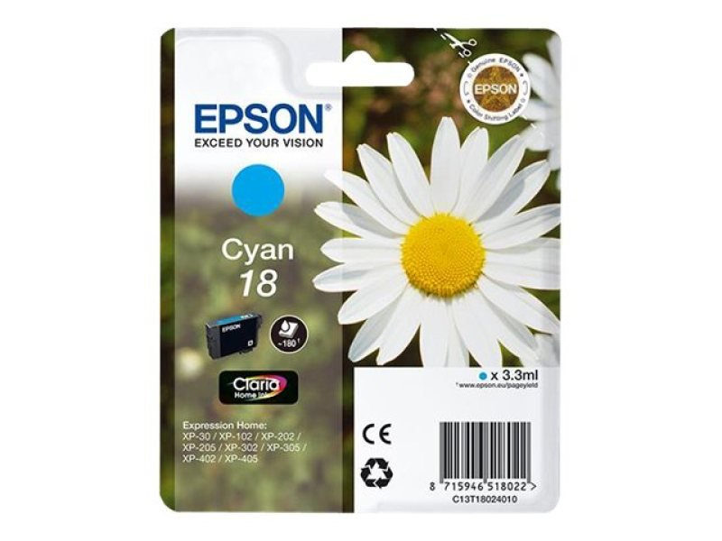 Epson 18 Daisy Cyan Ink Cartridge
